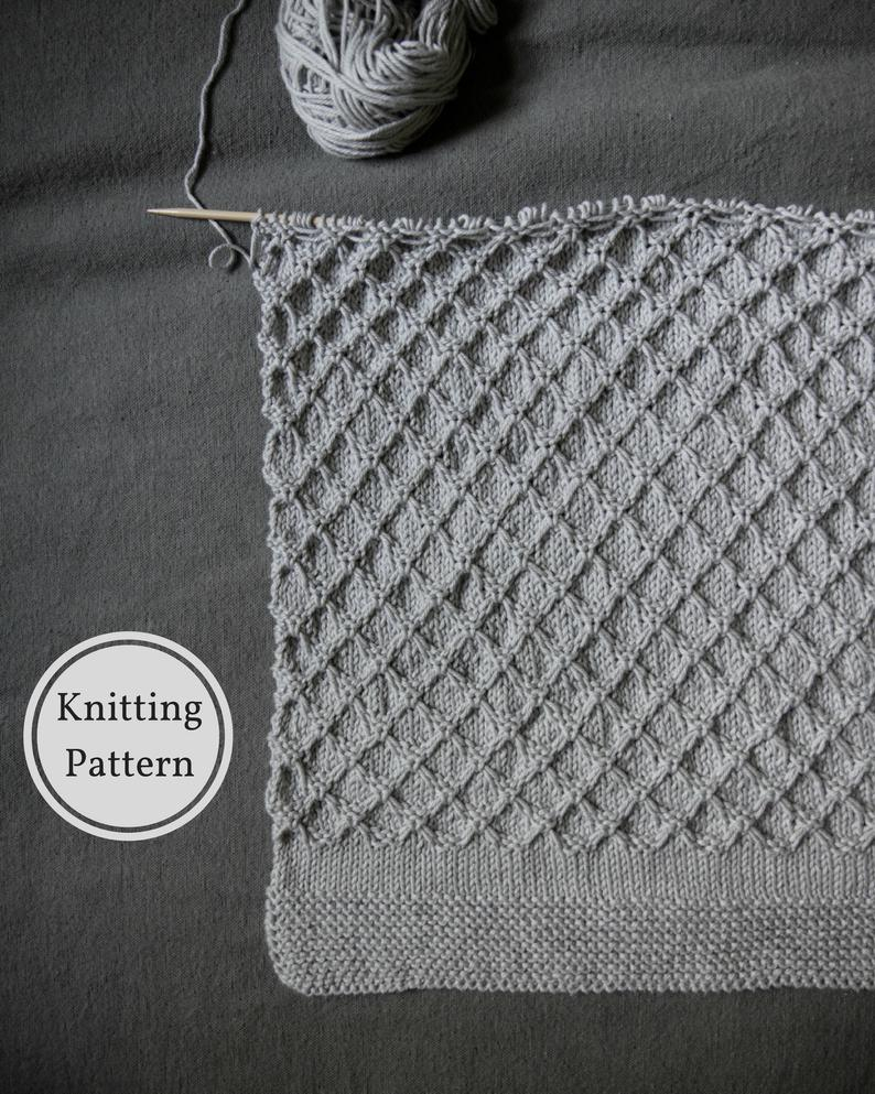 Easy Knitting Pattern For Baby Blanket Honeycomb Ba Blanket Pattern Easy Knitting Pattern Knitted Ba Blanket Ba Blanket Knitting Pattern Easy Ba Knit Pattern