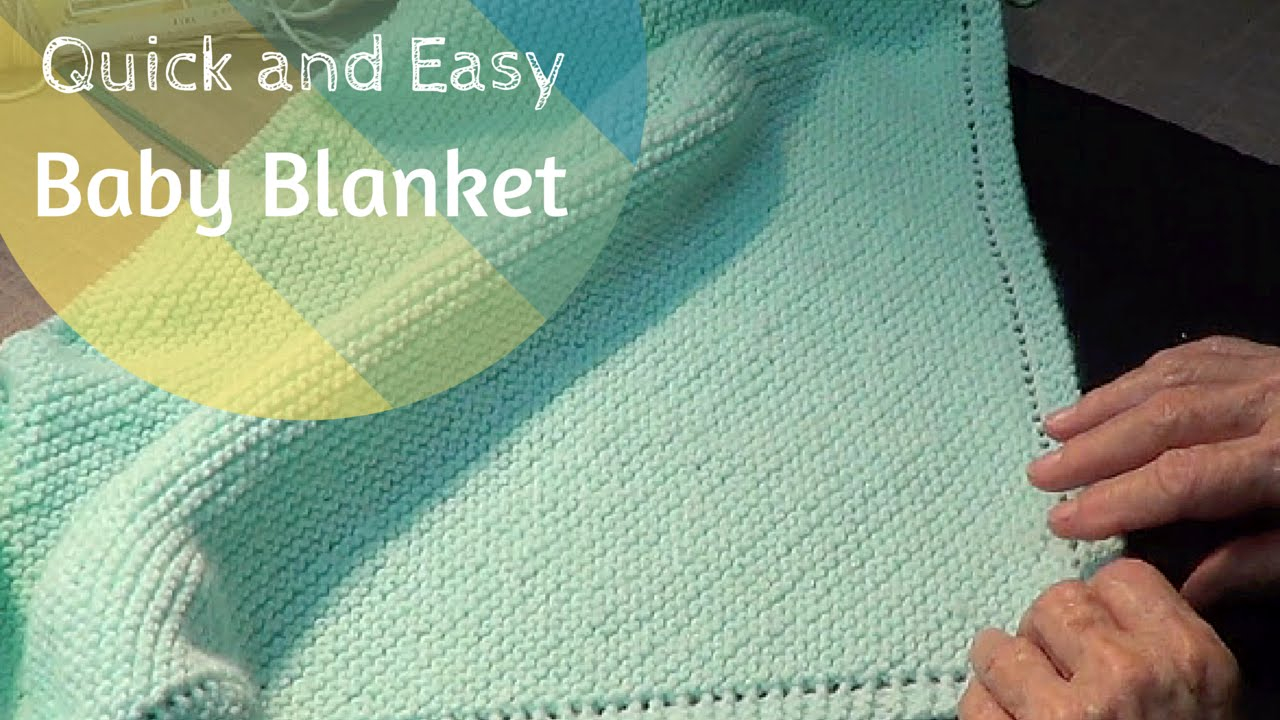 Easy Knitting Pattern For Baby Blanket Quick And Easy Ba Blanket