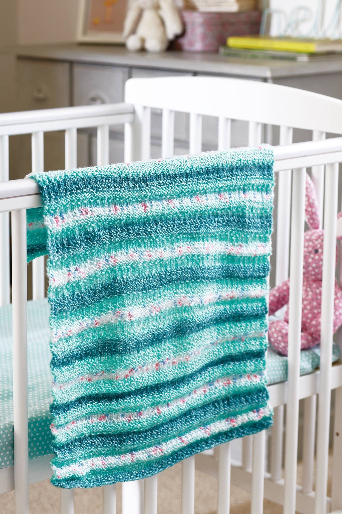 Easy Knitting Pattern For Baby Blanket Striped Ba Blanket Knitting Pattern