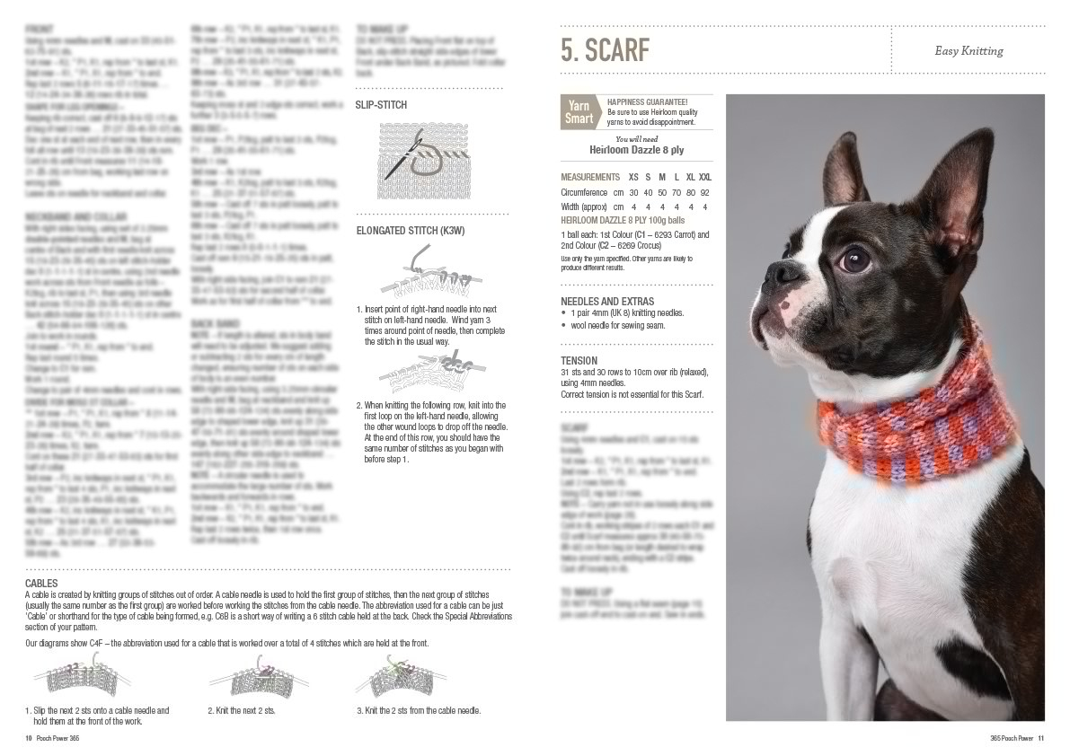 Easy Knitting Pattern For Dog Coat Pooch Power Dog Coats And Jumpers Pattern Book 0003
