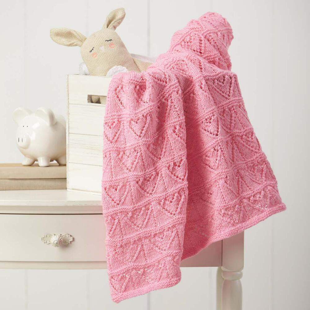 Free Baby Knitting Pattern Free Ba Knitting Pattern For An Heart Themed Lace Blanket Hearts