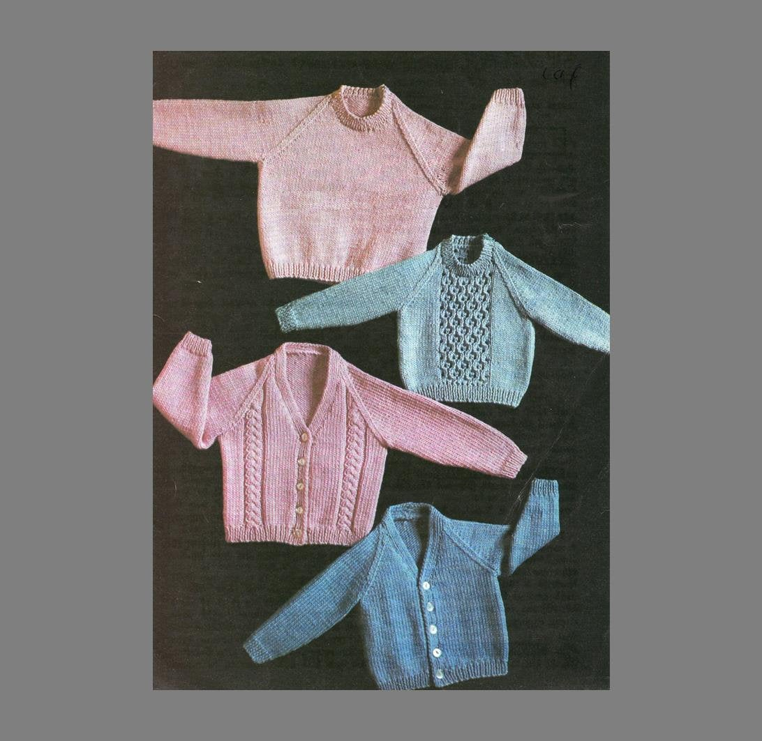 Free Baby Knitting Patterns 8 Ply Pdf Ba Knitting Pattern4 Patterns In Oneboy Or Girl Sweaters And Cardigans8 Ply Yarn Pdf Instant Downloadpost Free Knitting Pattern