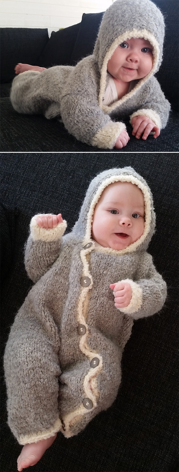 Free Baby Knitting Patterns Double Knit Ba Onesie And Romper Knitting Patterns In The Loop Knitting