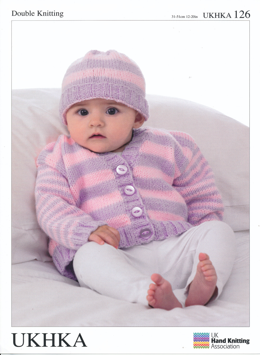 Free Baby Knitting Patterns Double Knit Double Knitting Dk Pattern Ba Long Sleeved Striped Cardigan Hat
