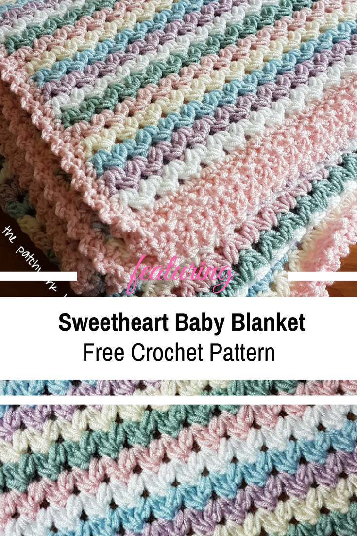 Free Baby Knitting Patterns Pinterest Free Pattern Simple And Easy Sweetheart Ba Blanket Crochet