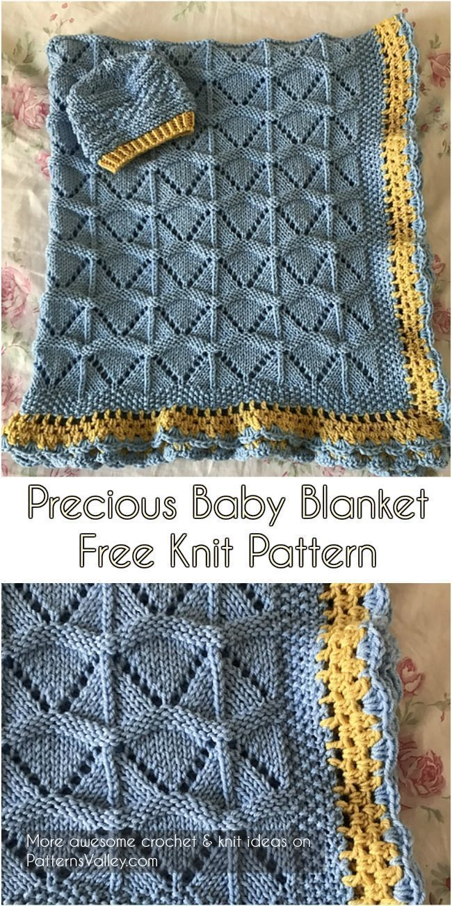 Free Baby Knitting Patterns Pinterest Precious Ba Blanket Free Knit Pattern Knitting Pinterest Patterns