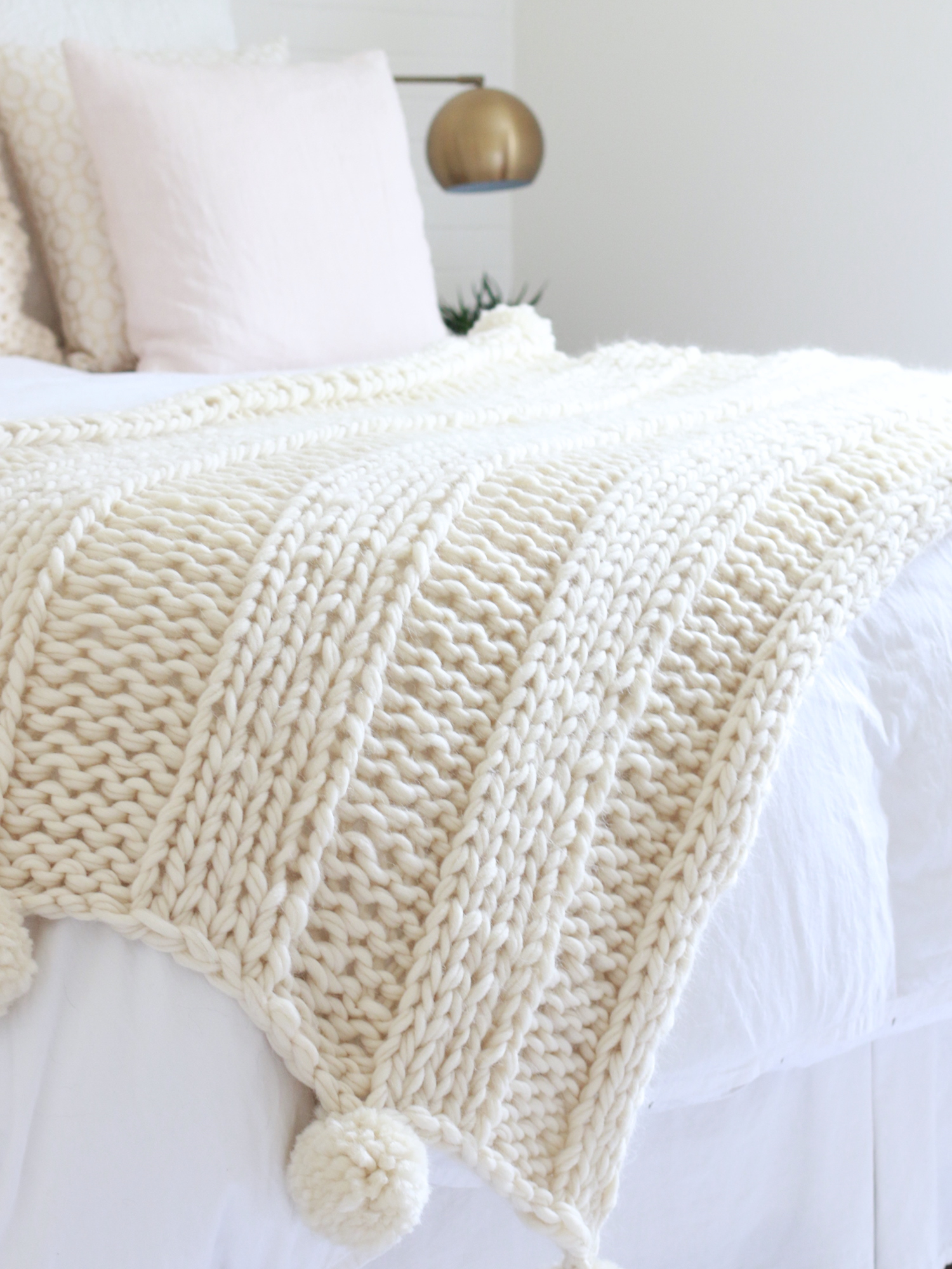 Free Bulky Knitting Patterns Free Chunky Knit Blanket Pattern Knit A Blanket In A Weekend Easy