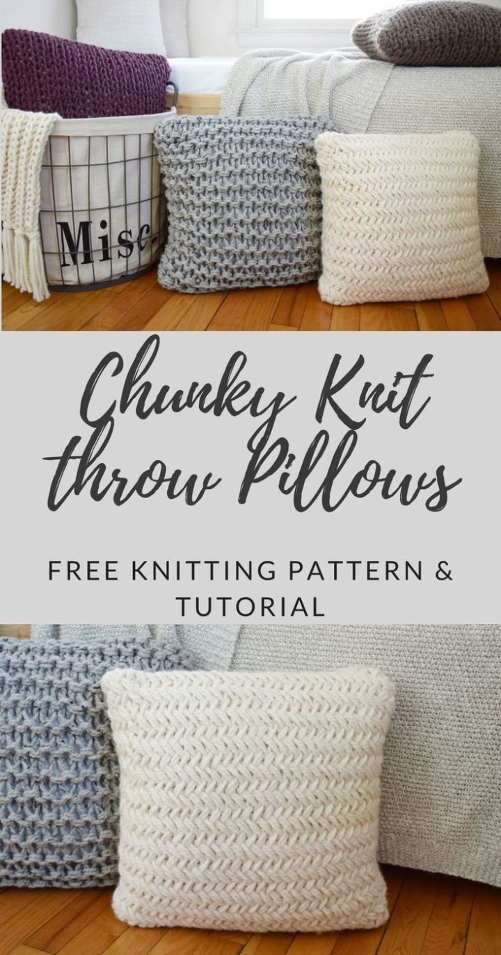 Free Cushion Cover Knitting Pattern Chunky Throw Pillow Set Free Pattern Love Amigurumi