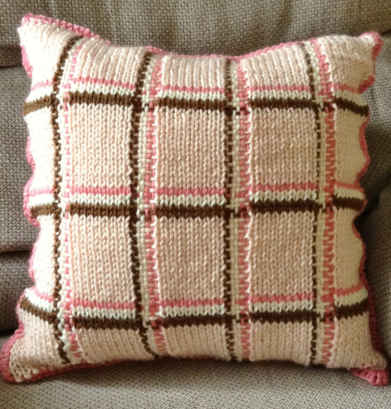 Free Cushion Cover Knitting Pattern Plaid Knitting Patterns In The Loop Knitting