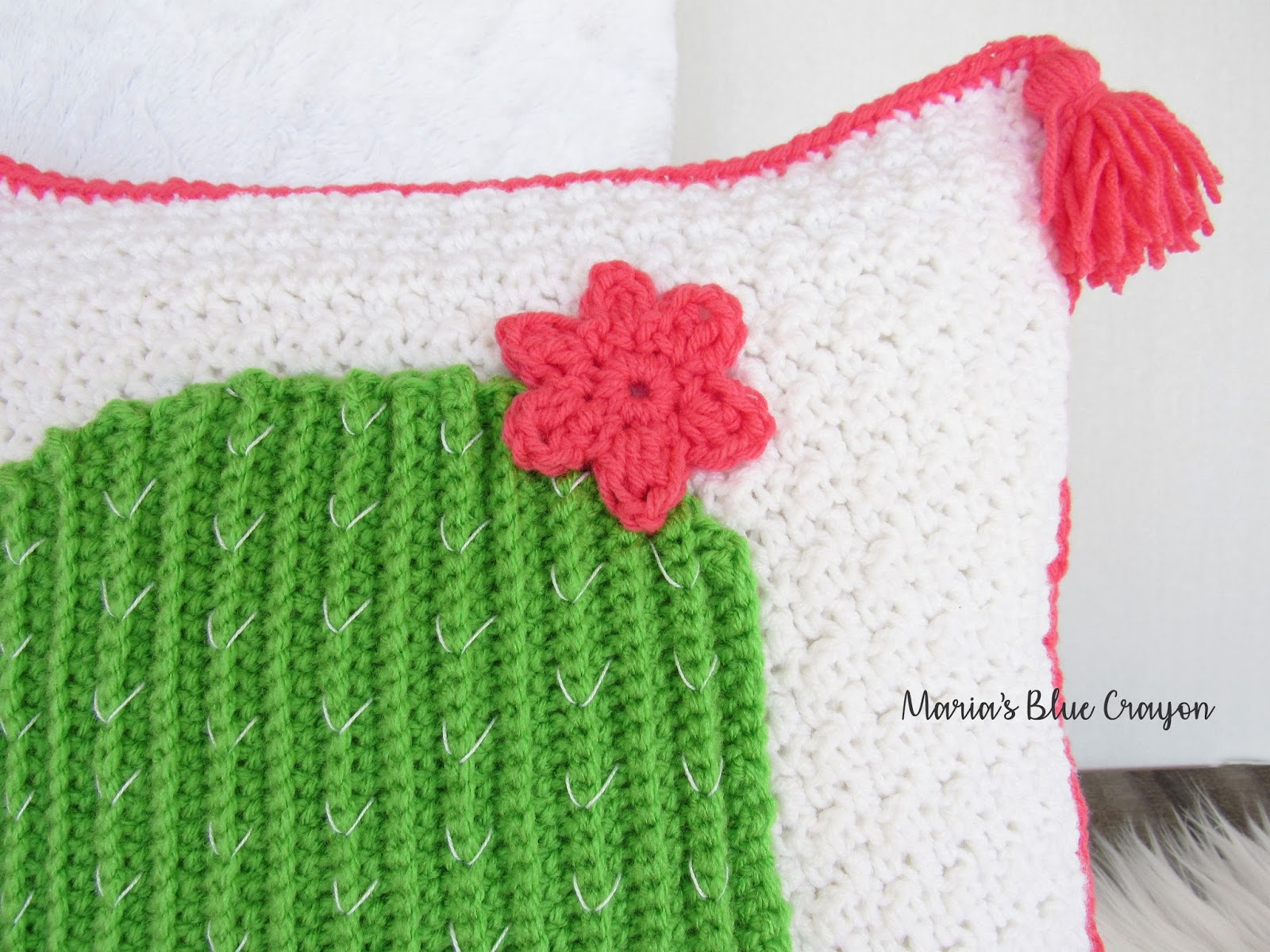 Free Cushion Cover Knitting Pattern Spring Blog Hop Festive Cactus Pillow Cover Free Crochet Pattern
