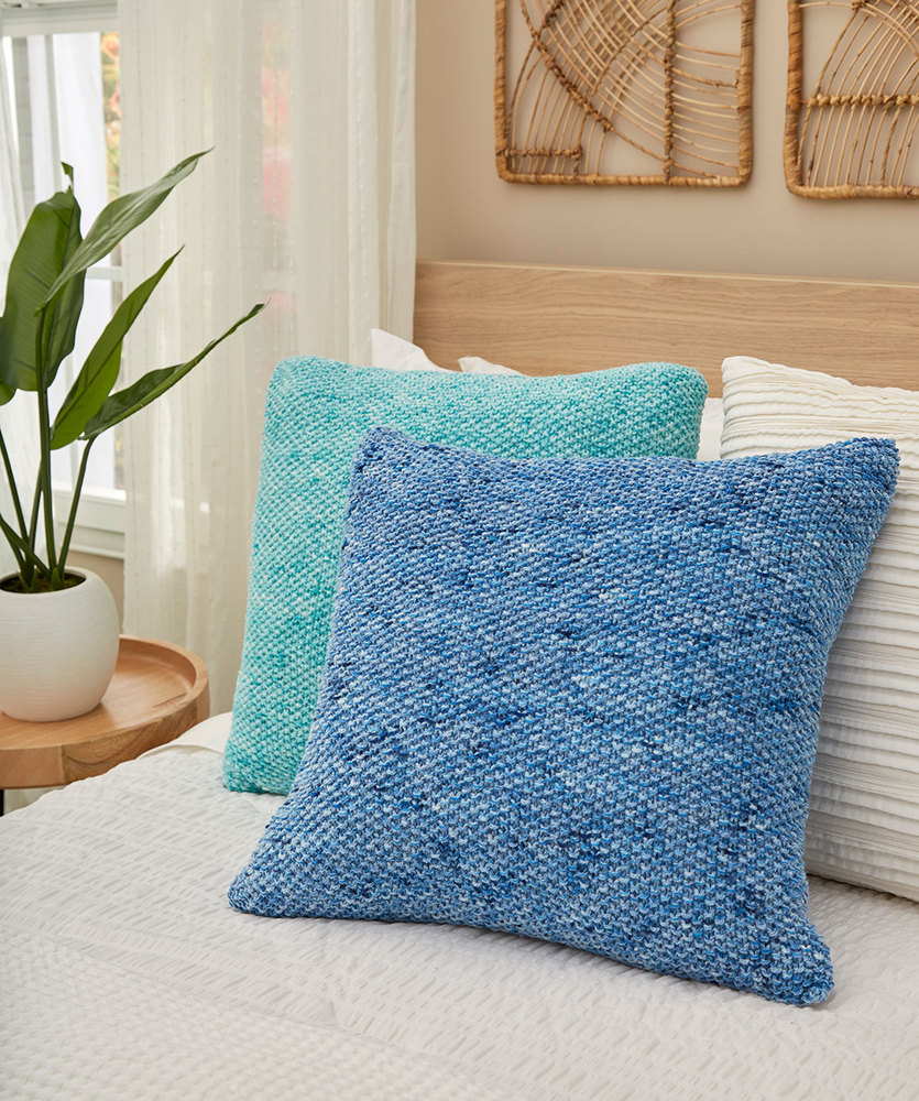 Free Cushion Knitting Patterns Textured Seed Stitch Pillows Red Heart