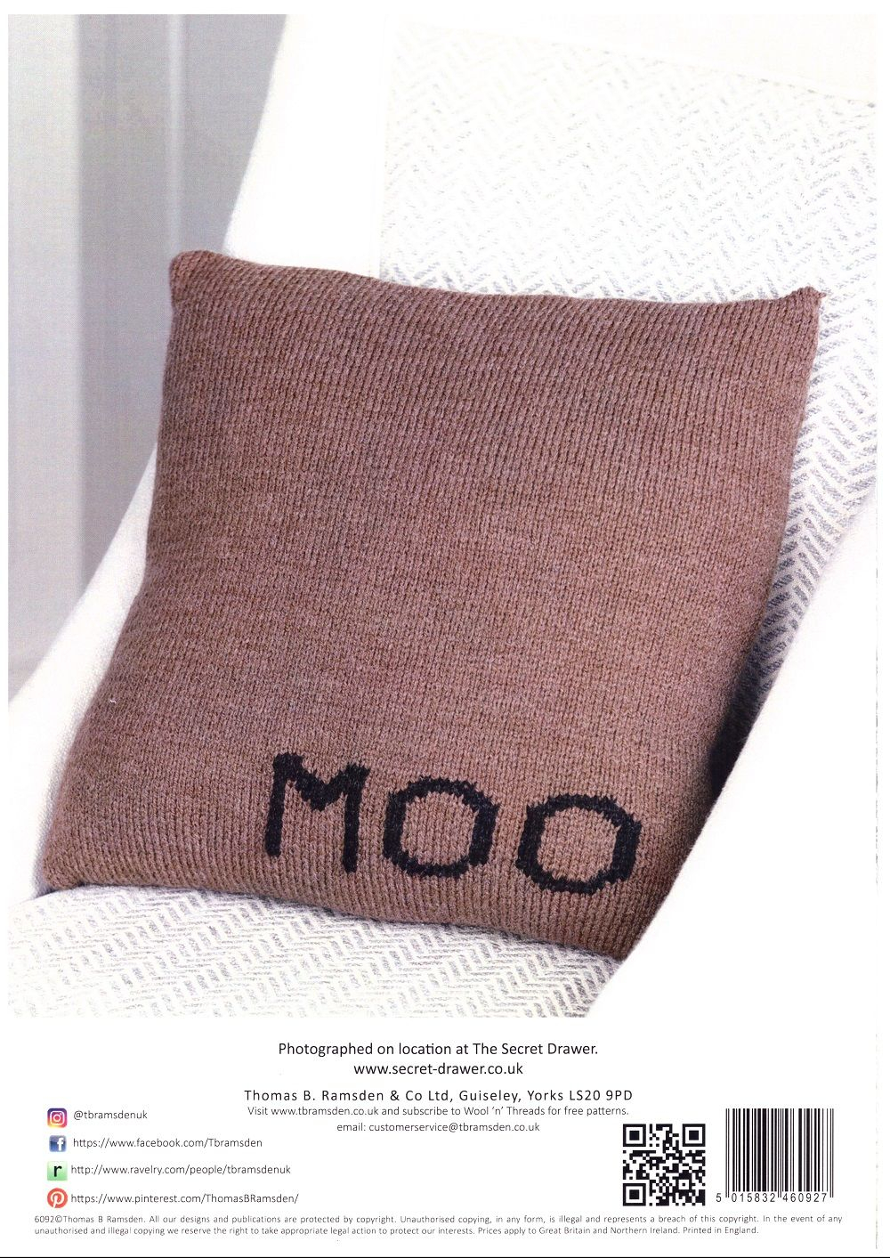 Free Cushion Knitting Patterns Wendy Cow Cushion Knitting Pattern In With Wool Dk 6092
