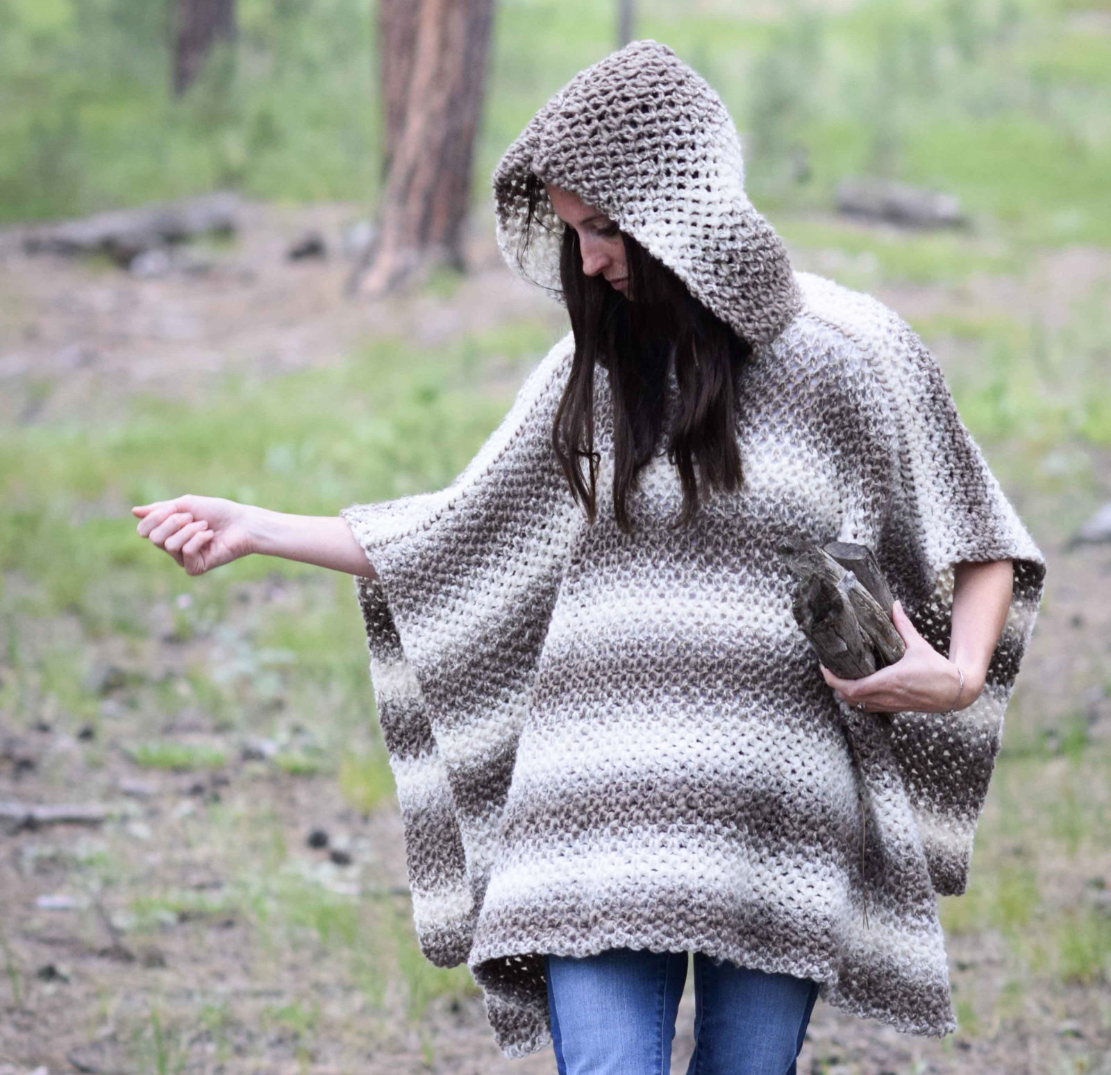 Free Easy Baby Poncho Knitting Pattern Driftwood Oversized Crochet Hooded Poncho Pattern Mama In A Stitch