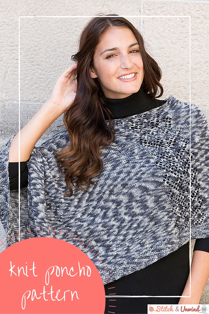Free Easy Baby Poncho Knitting Pattern Free Pattern Friday Knit Poncho Pattern From Red Heart Stitch