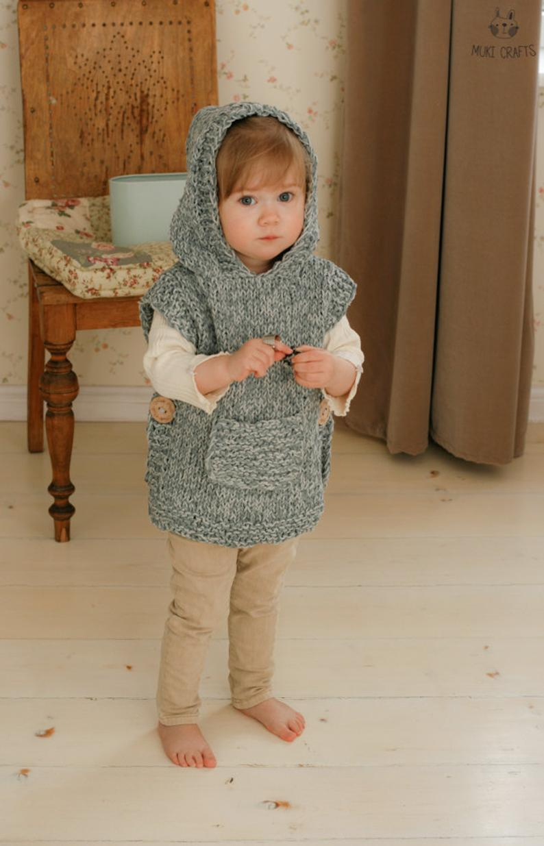 Free Easy Baby Poncho Knitting Pattern Knitting Pattern Easy Hooded Poncho Phoebe