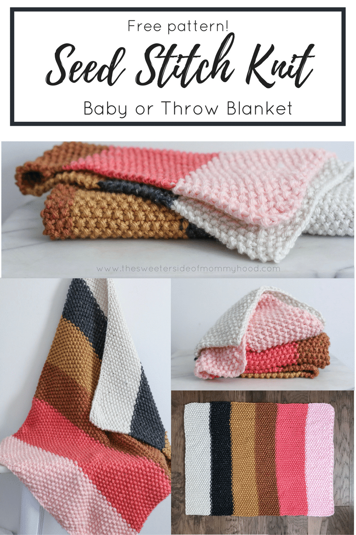 Free Easy Knitting Patterns For Baby Blankets Quick And Easy Fall Seed Stitch Knit Throw Or Ba Blanket Free