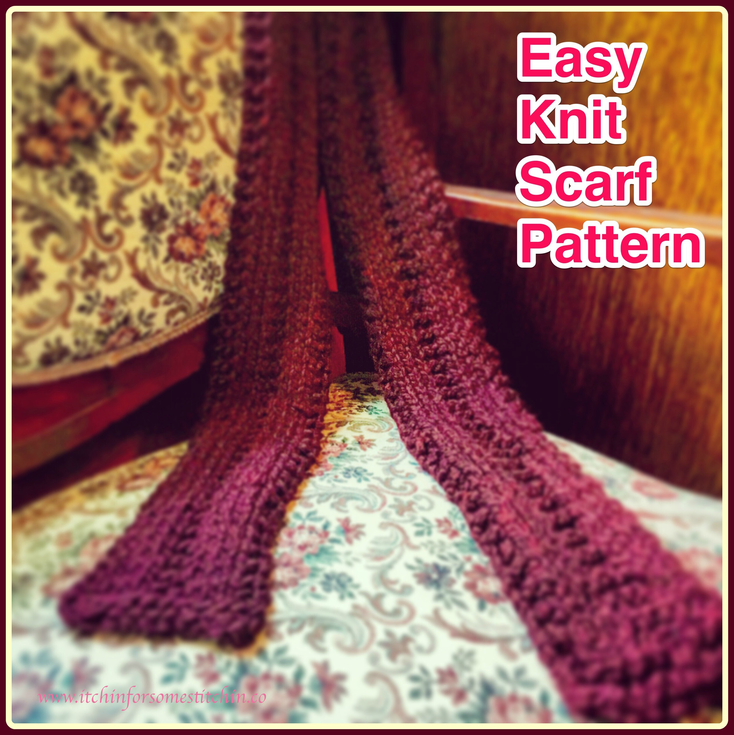 Free Easy Knitting Scarf Patterns For Beginners Free Easy Knit Scarf Pattern Itchin For Some Stitchin