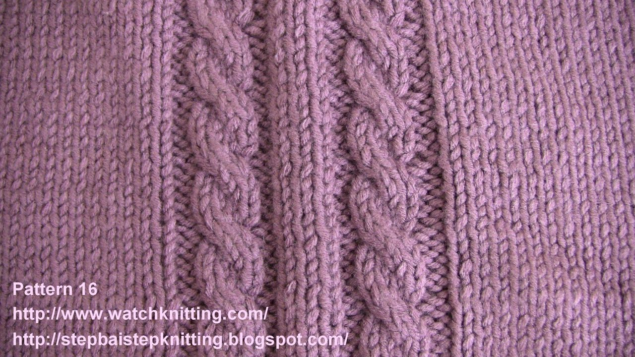 Free Knit Cable Patterns Cable Stitch Embossed Patterns Free Knitting Patterns Tutorial Watch Knitting Pattern 16