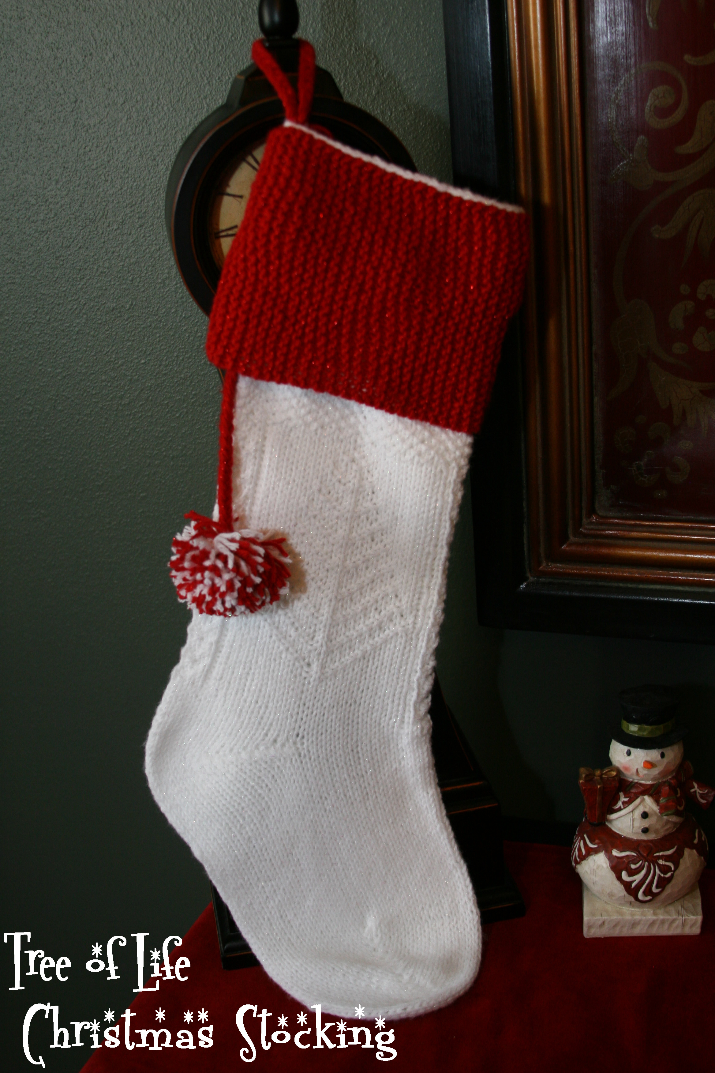 Free Knit Christmas Stocking Pattern Happy Holidays Christmas Stocking Pattern Kb Looms Blog Kb