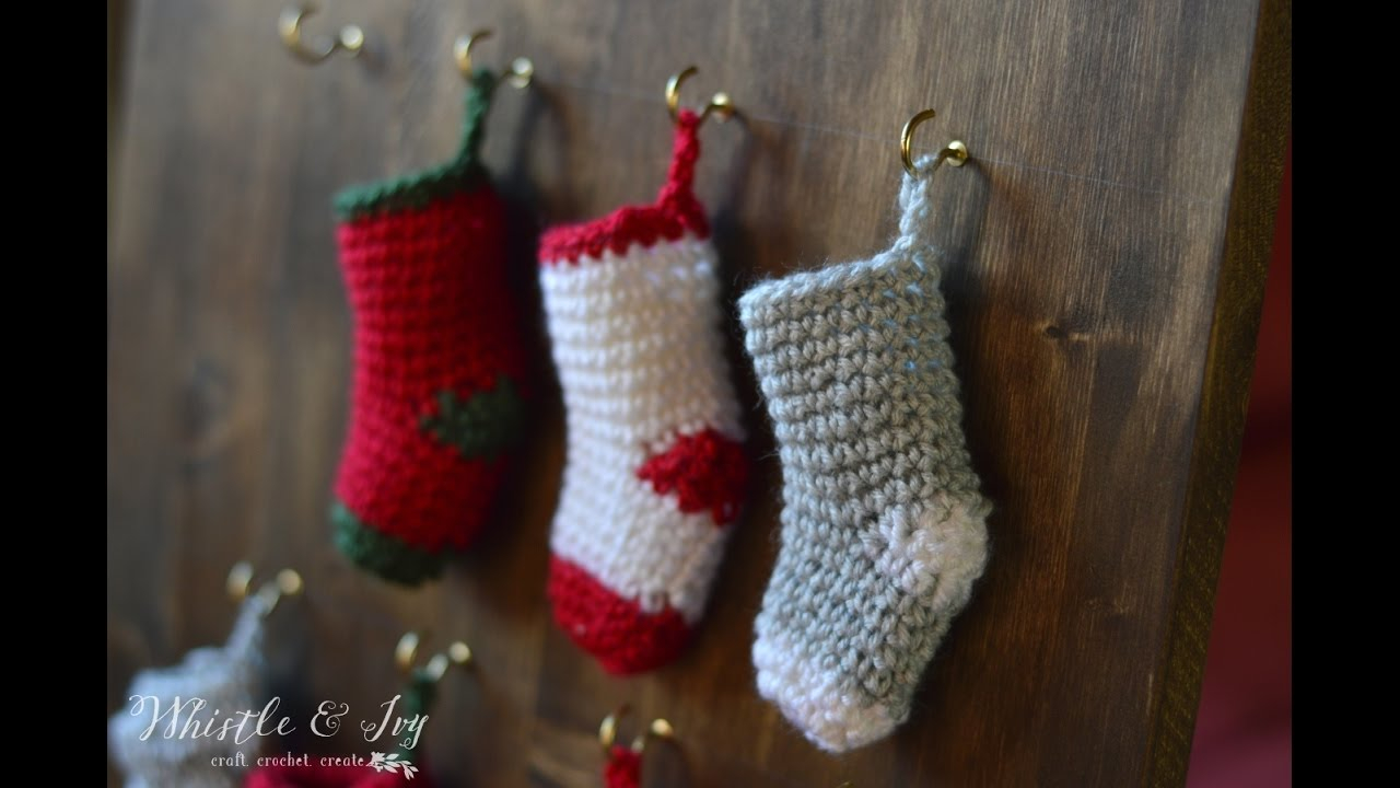Free Knit Christmas Stocking Pattern How To Make A Crochet Mini Stocking