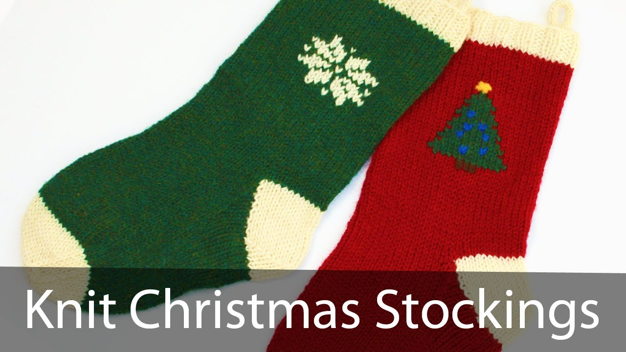 Free Knit Christmas Stocking Pattern Learn To Knit A Christmas Stocking Part 1