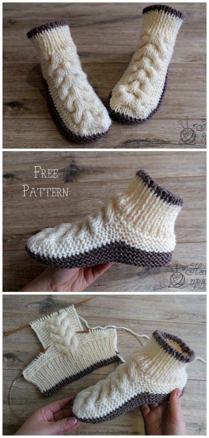 Free Knit Slipper Pattern Ba Knitting Patterns Super Soft Cozy Slippers Free Knitting Pattern