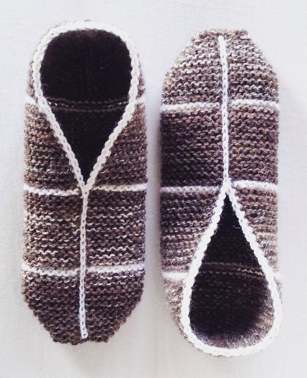 Free Knit Slipper Pattern Easy Slipper Knitting Patterns In The Loop Knitting