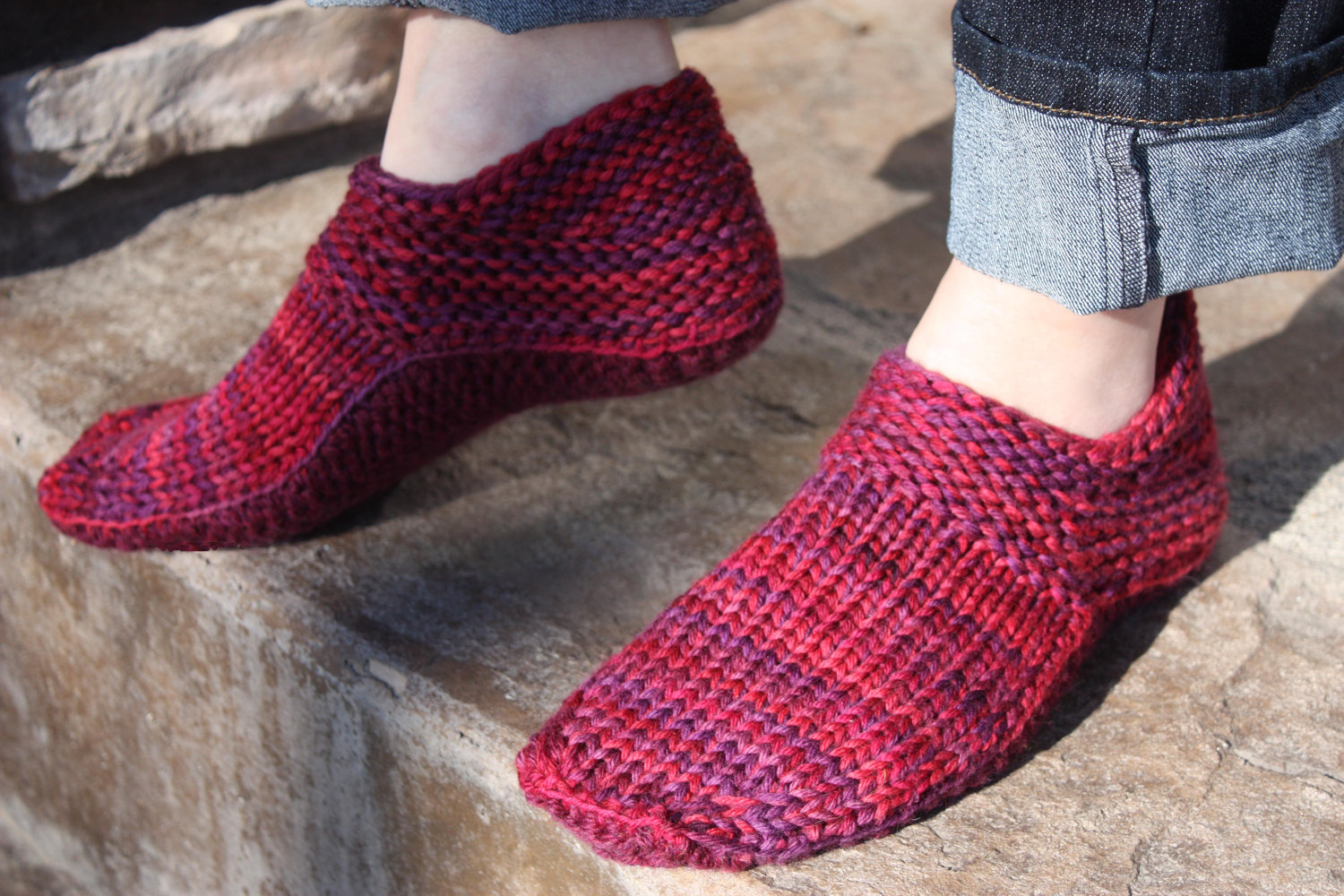 Free Knit Slipper Pattern Knitted Slippers To Keep Your Feet Warm And Cozy Crochet And