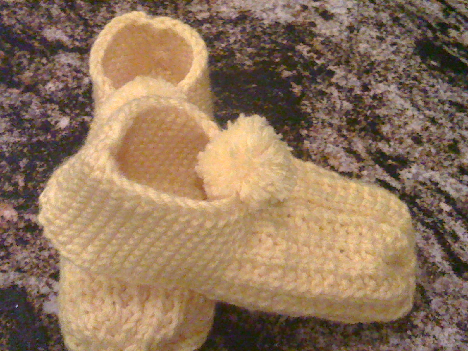 Free Knit Slipper Pattern Mosier Farms Rounded Heel Knitted Slipper Pattern