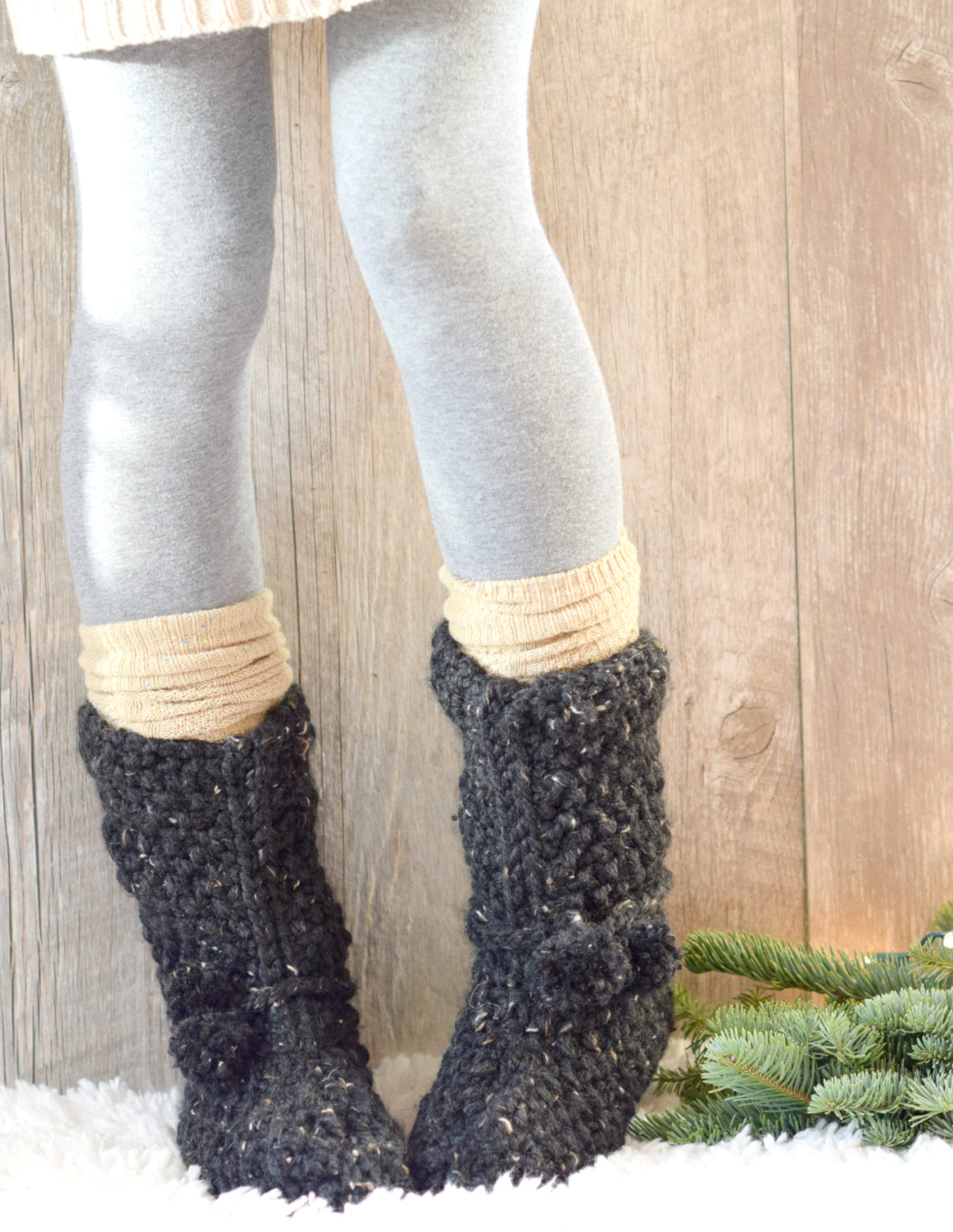 Free Knit Slipper Pattern Mountain Chalet Boot Slipper Knitting Pattern Knit Flat Mama In