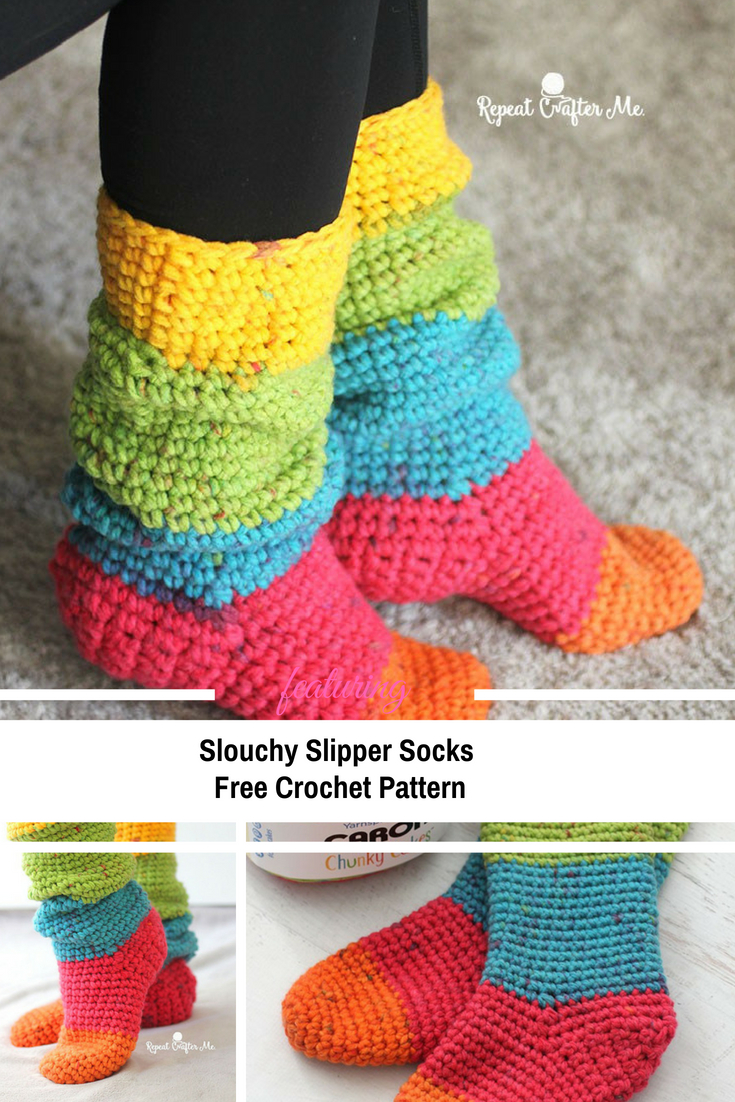 Free Knit Slipper Pattern Quick And Easy Slouchy Slipper Socks Free Pattern Knit And