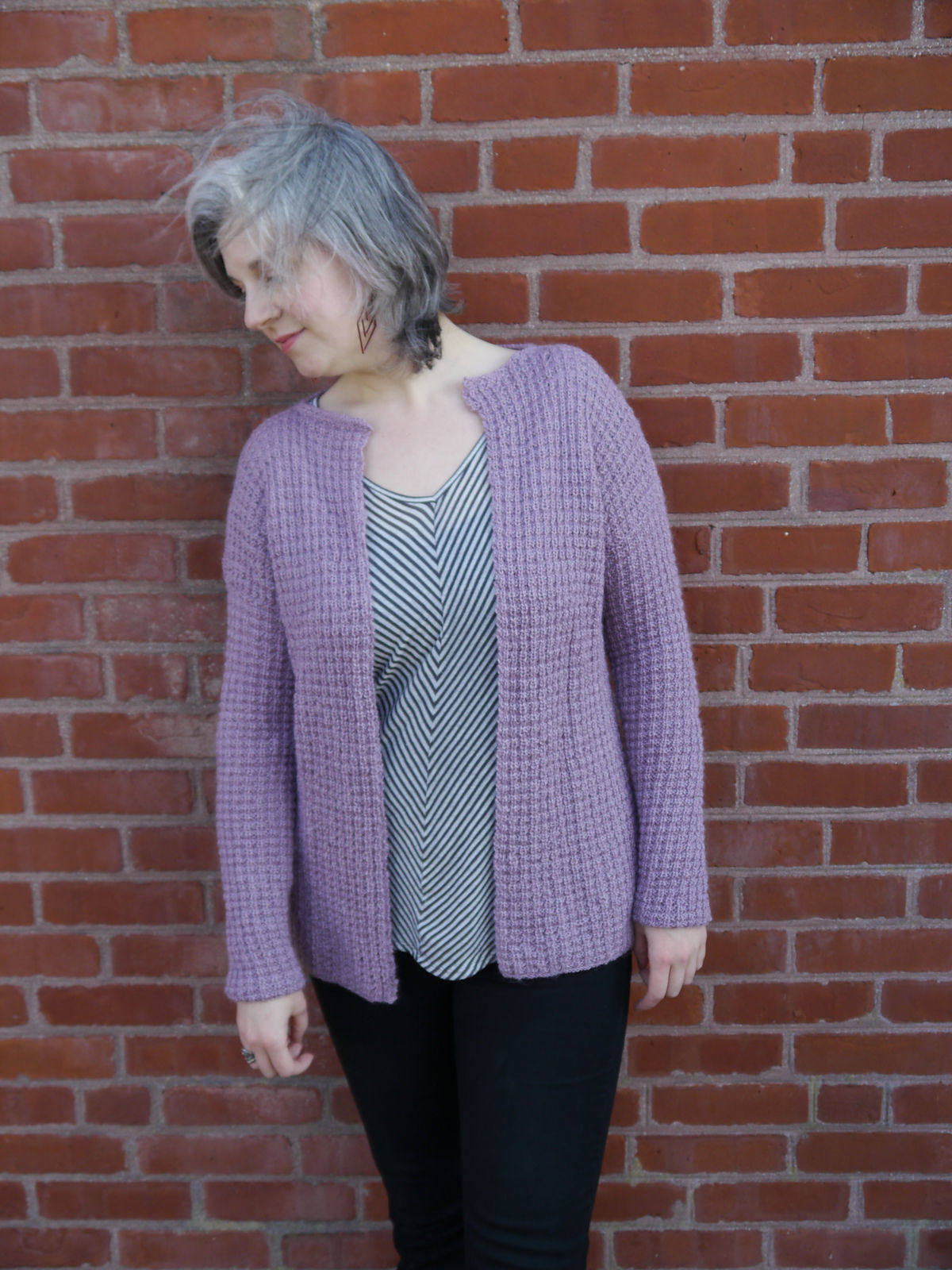 Free Knitted Cardigan Patterns Knit Cardigan Ametrine Free Pdf Easy Pattern Textured