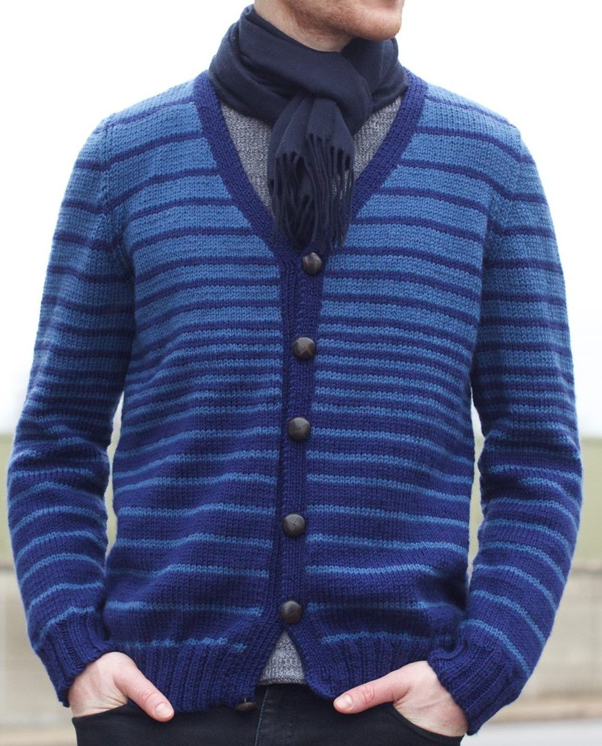 Free Knitted Cardigan Patterns Mens Sweater Knitting Patterns In The Loop Knitting
