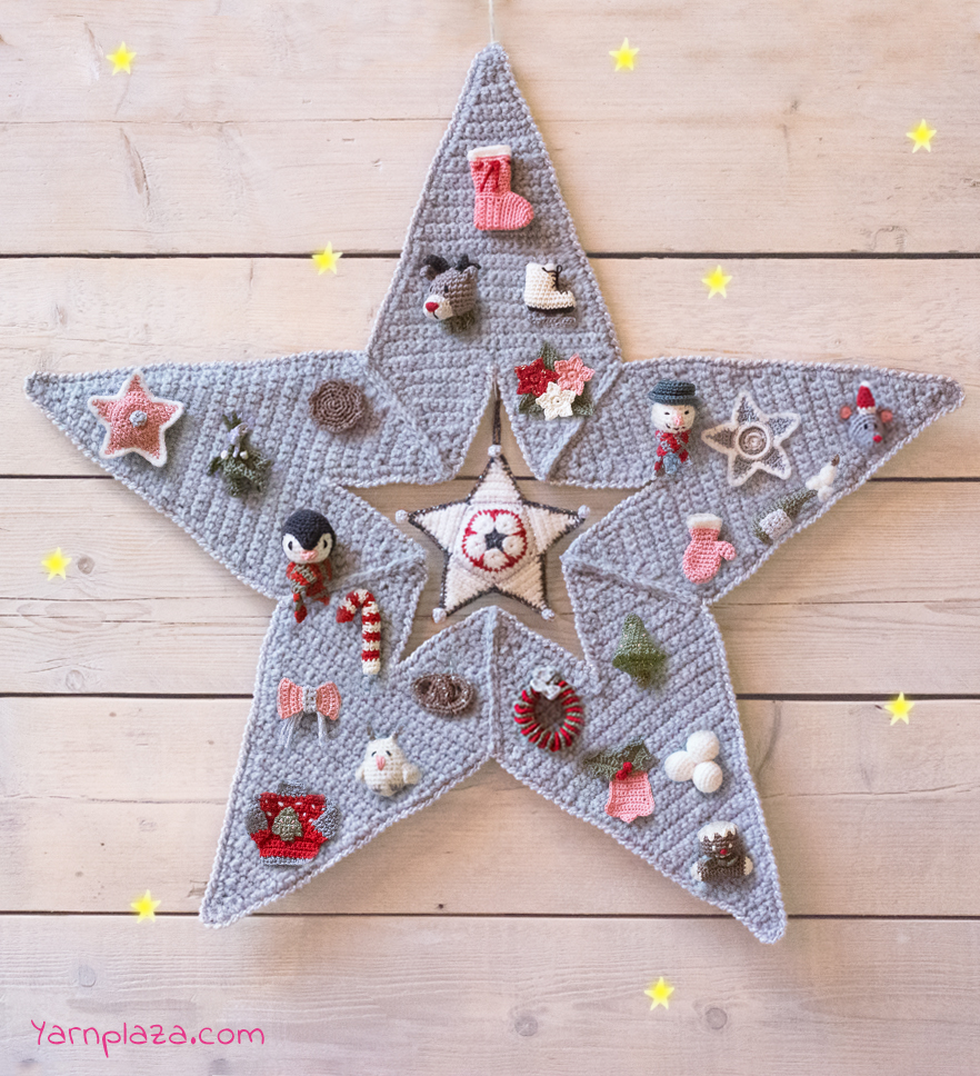 Free Knitted Christmas Tree Decorations Patterns Advent Star Cal Free Crochet Patterns Yarnplaza For