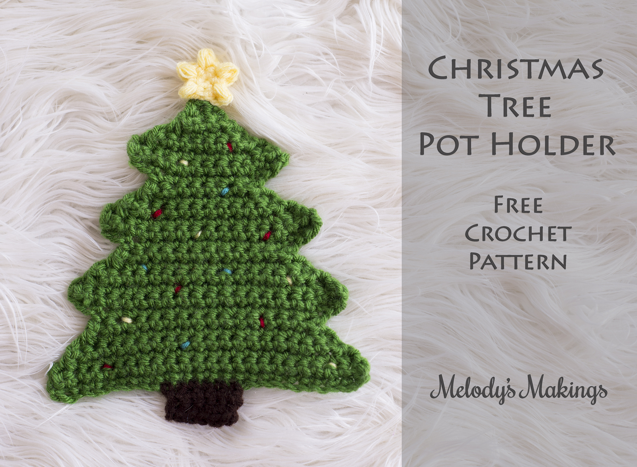 Free Knitted Christmas Tree Decorations Patterns Christmas Tree Pot Holder Pattern Crochet Knit Melodys Makings