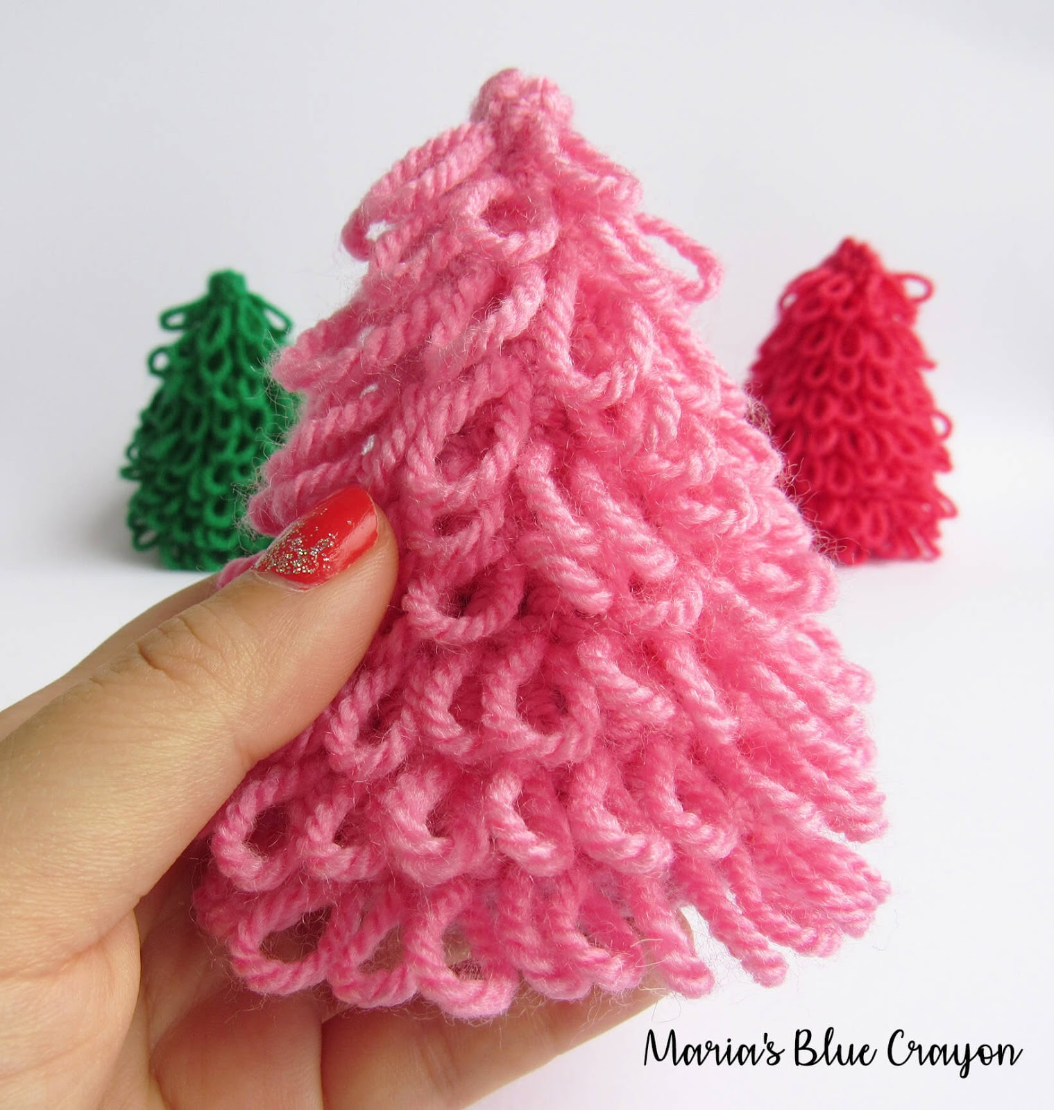 Free Knitted Christmas Tree Decorations Patterns Crochet Mini Christmas Tree For Decoration Free Crochet Pattern