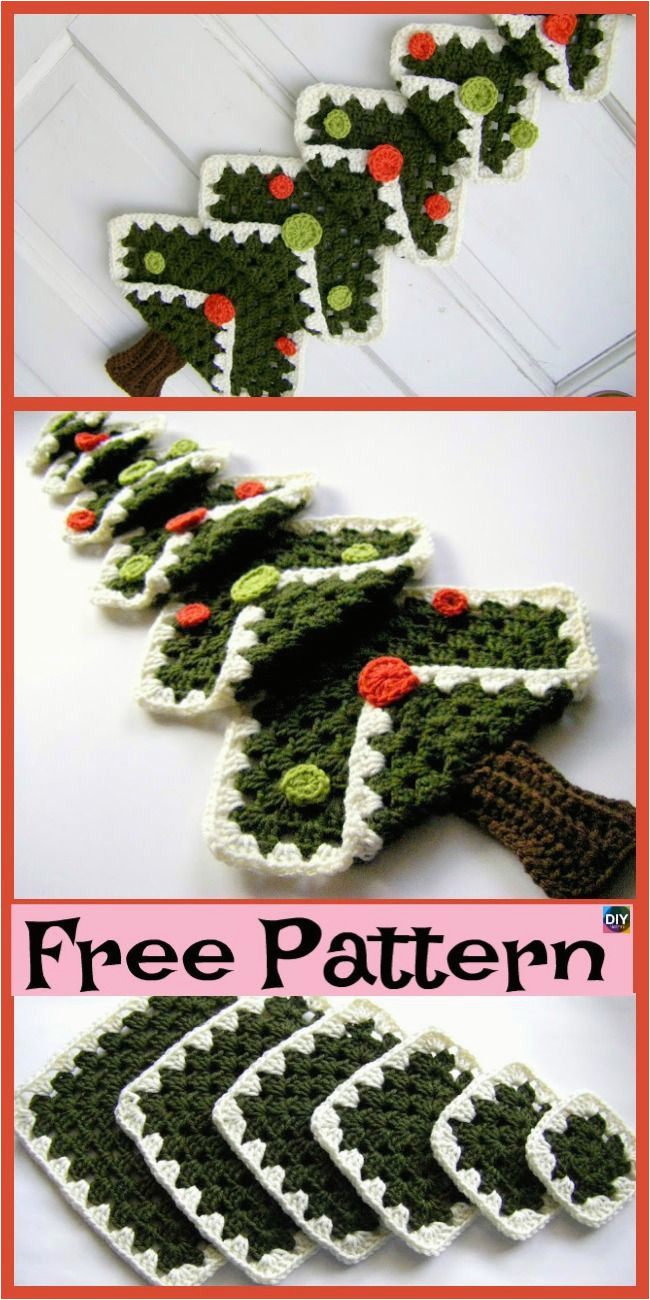 Free Knitted Christmas Tree Decorations Patterns Diy Knit Ornaments 8 Mini Crochet Christmas Trees Free Patterns