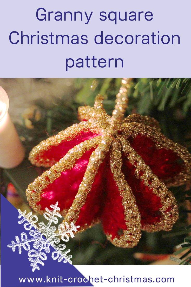 Free Knitted Christmas Tree Decorations Patterns Granny Square Christmas Tree Decoration Knit Crochet Christmas