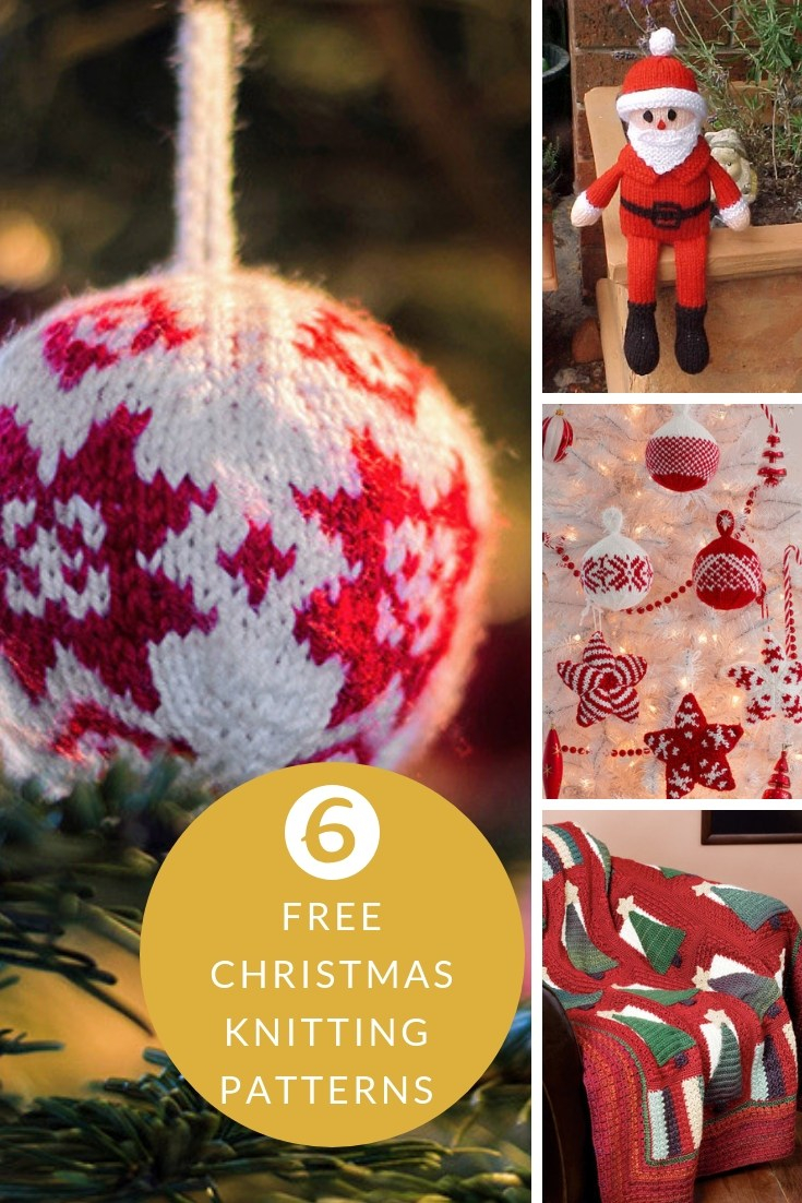 Free Knitted Christmas Tree Decorations Patterns Knitted Christmas Decorations Free Knitting Patterns Handy Little Me
