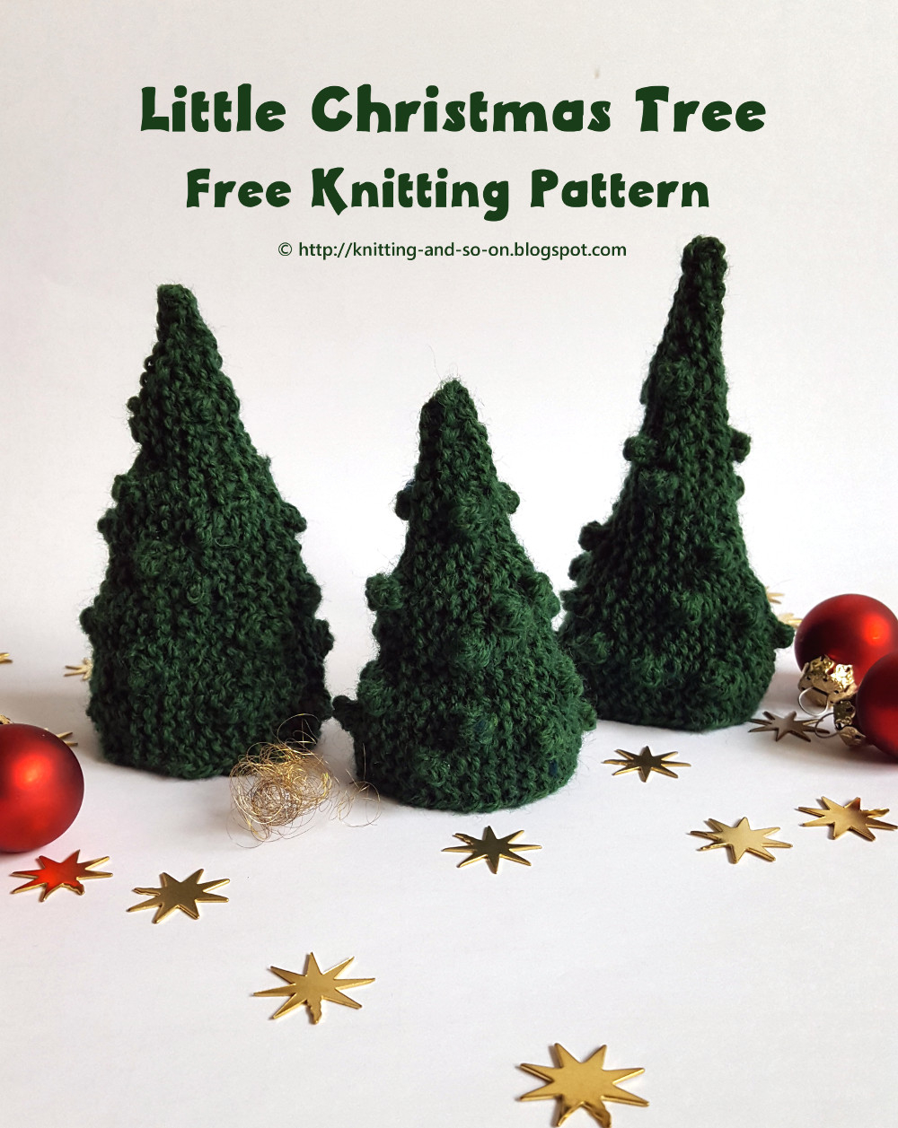 Free Knitted Christmas Tree Decorations Patterns Knitting And So On O Christmas Tree