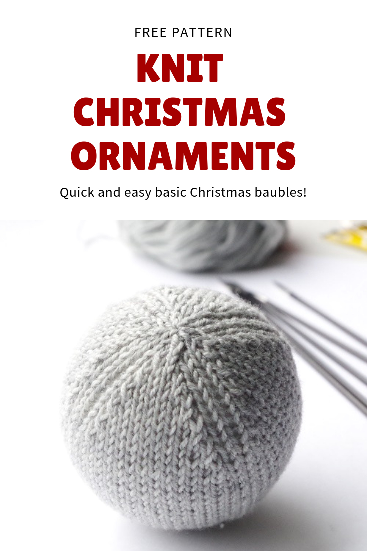 Free Knitted Christmas Tree Decorations Patterns Knitting Pattern For Basic Christmas Ball Ornament