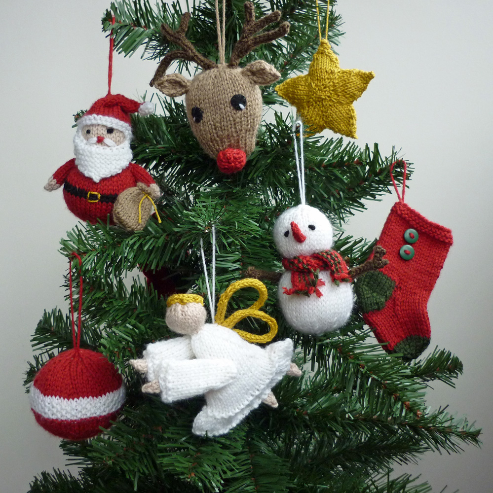 Free Knitted Christmas Tree Decorations Patterns Mack And Mabel Third Christmas In July Winner