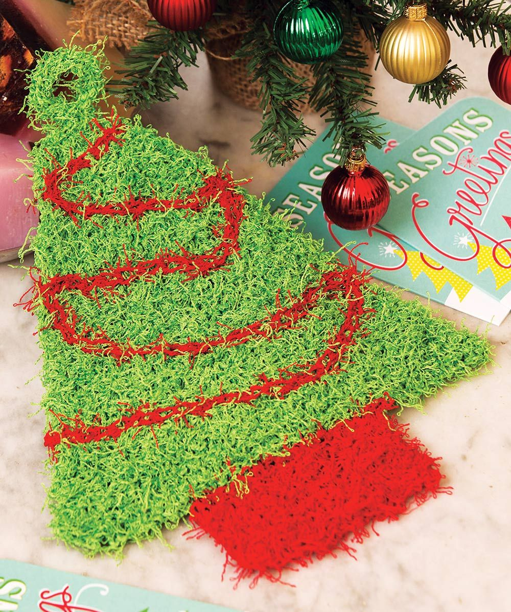 Free Knitted Christmas Tree Decorations Patterns Mary Maxim Free Christmas Tree Scrub Pattern