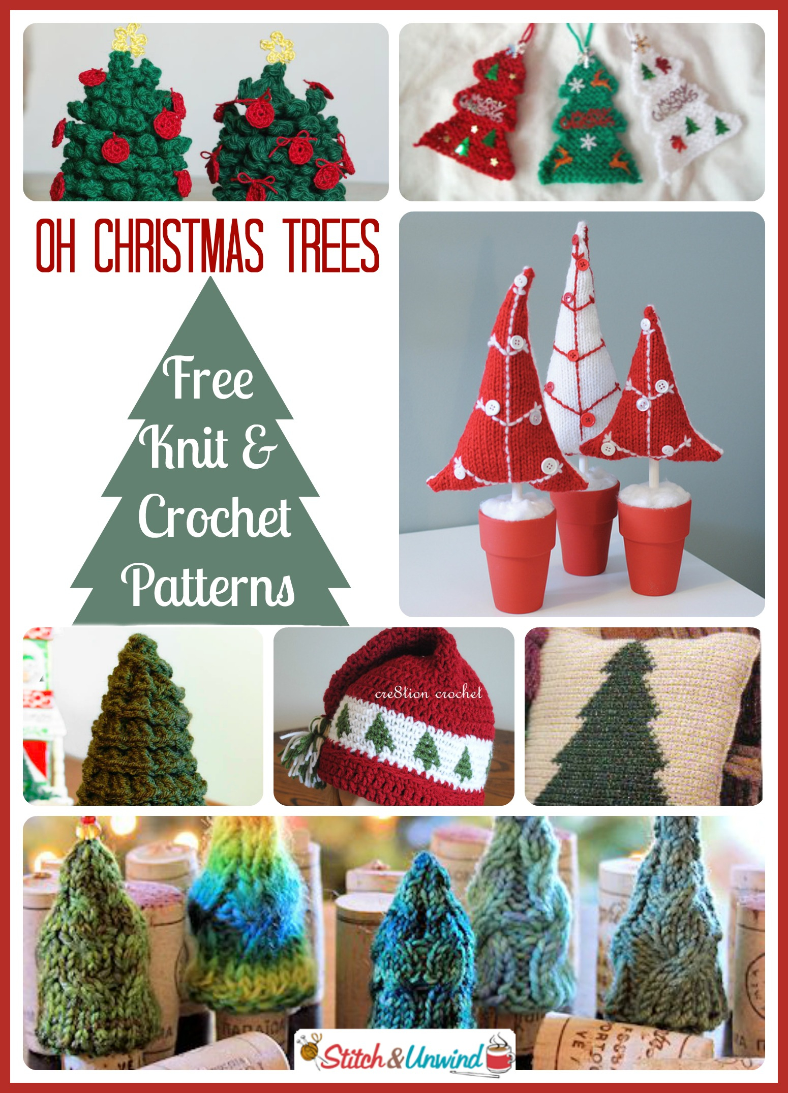 Free Knitted Christmas Tree Decorations Patterns Oh Christmas Trees Lovely Knit Crochet Patterns Stitch And Unwind