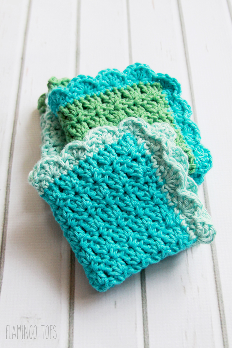 Free Knitted Cotton Dishcloth Patterns Easy Crochet Dish Cloth Pattern
