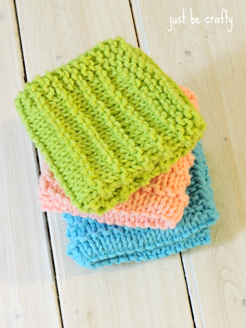 Free Knitted Cotton Dishcloth Patterns Farmhouse Kitchen Knitted Dishcloths Just Be Crafty