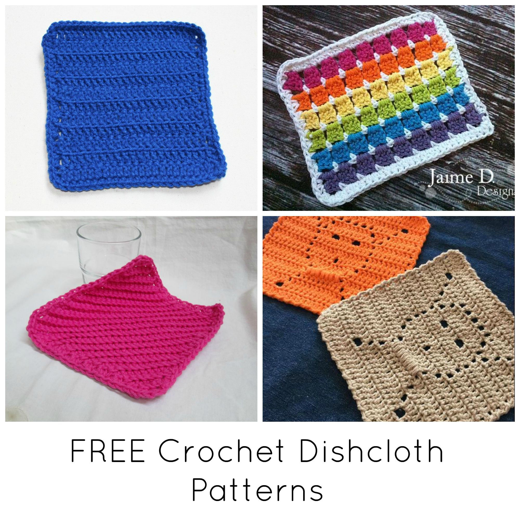 Free Knitted Cotton Dishcloth Patterns Free Quick Cute Crochet Dishcloth Patterns