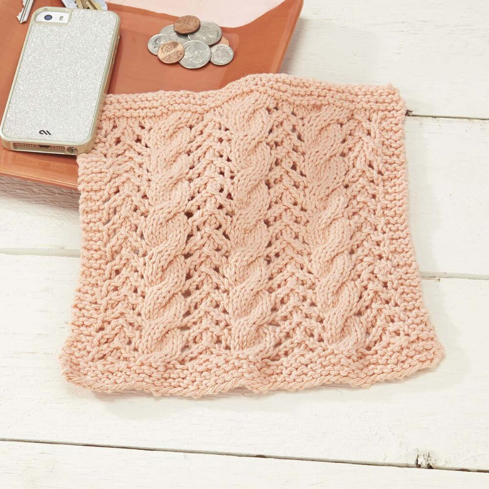 Free Knitted Cotton Dishcloth Patterns Knitting Patterns Galore Cables And Lace Dishcloth