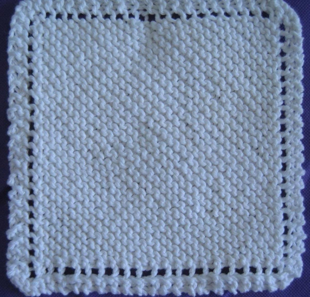 Free Knitted Cotton Dishcloth Patterns The Old Time Favorite Dish Cloth Bluprint