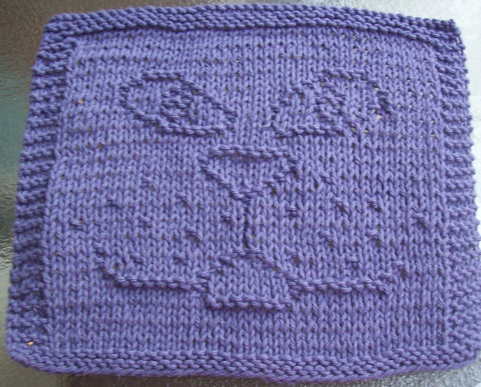 Free Knitted Dishcloth Pattern Free Knitted Dishcloth Patterns Designs Crochet And Knit Diamond